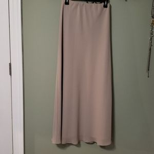 Fully-lined beige, formal maxi skirt